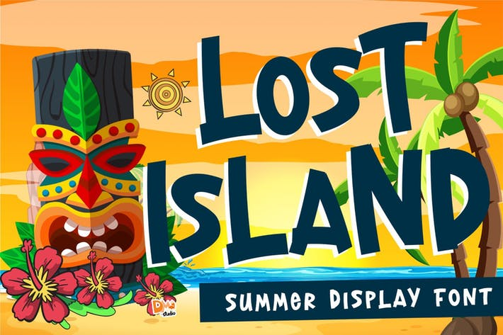 Thumbnail for Lost Island - Summer Font