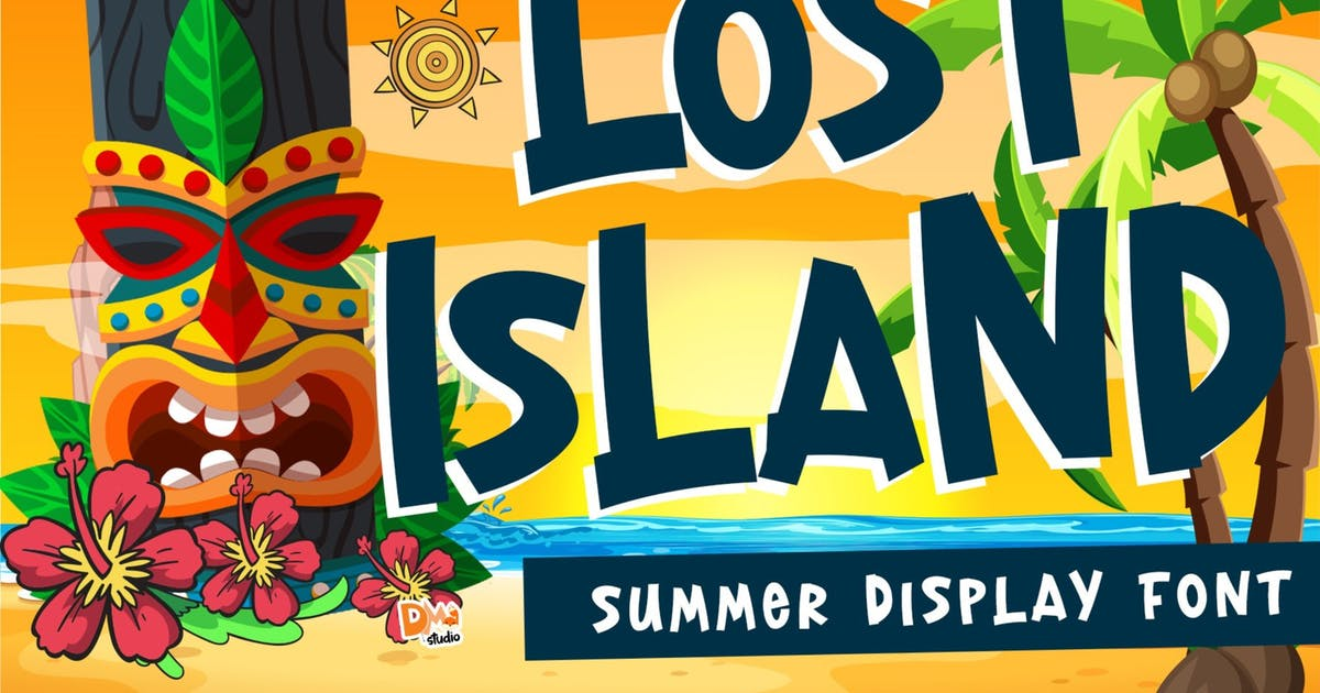 Download Lost Island - Summer Font by DmLetter