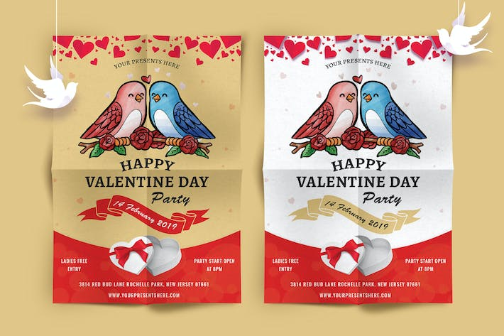 Thumbnail for Valentines Day Party Flyer-07