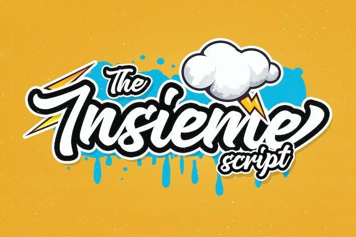 Thumbnail for Insieme Script Font