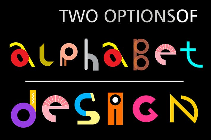Thumbnail for Two options of vector alphabet design