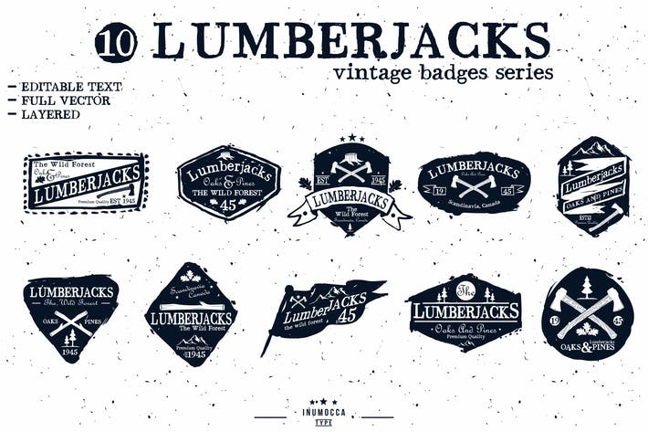 LumberJack Badges