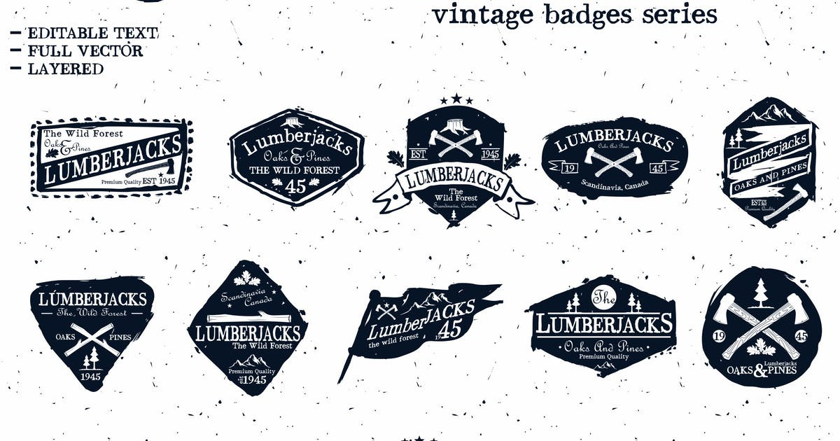 Download LumberJack Badges by inumocca