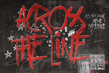 Across the Line - Trash and Rebel typeface