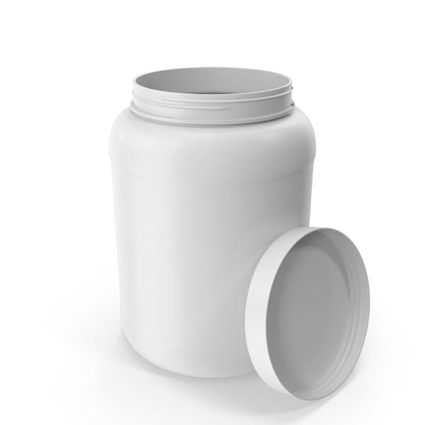 Пластиковая бутылка Широкий рот 1,8 галлон Белый Открытый