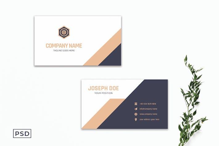 Kreatives Unternehmens- Visitenkarte Vorlage