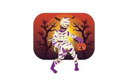 Хэллоуин Мумия персонаж