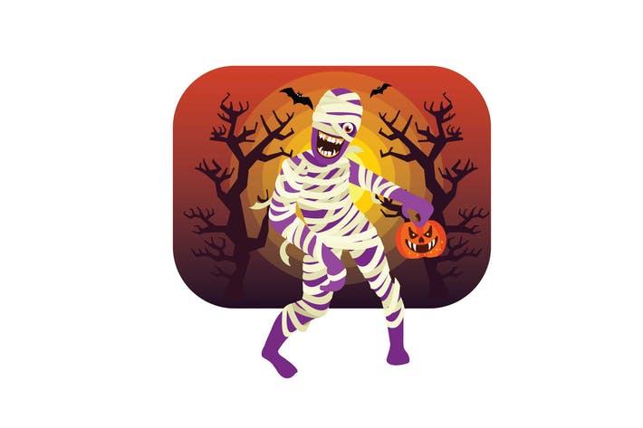 Thumbnail for Halloween Mummy Character