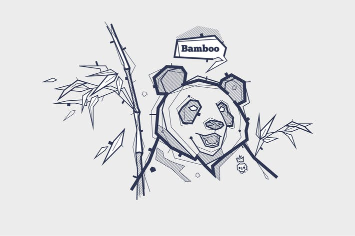 Thumbnail for vector tattoo illustration with panda