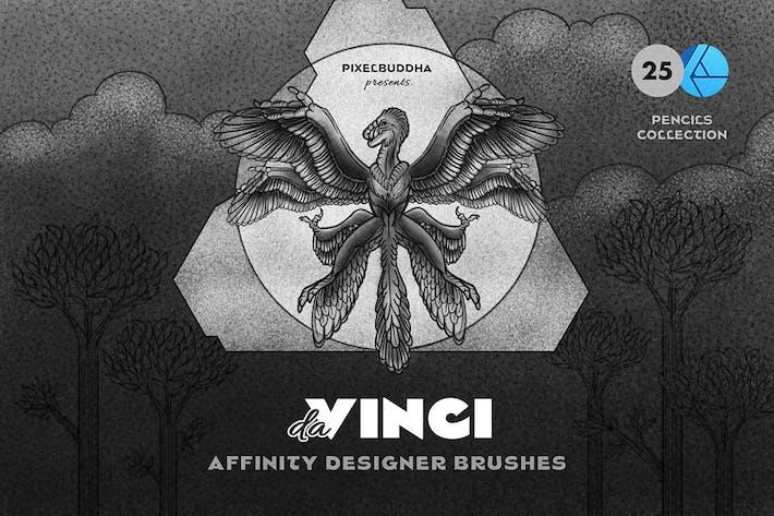 Карандаш Affinity дизайнерские кисти