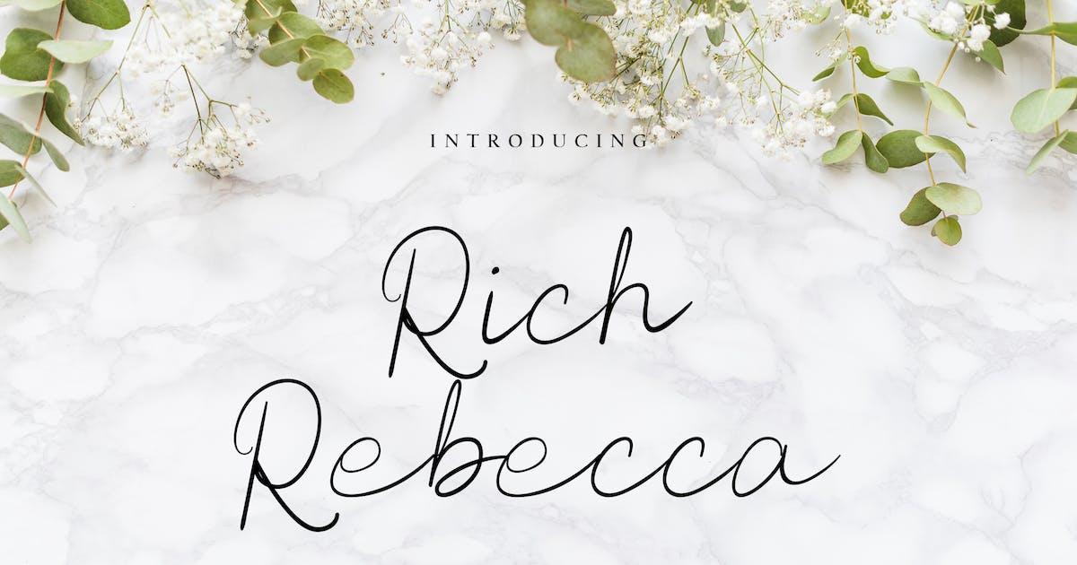 Download Rich Rebecca Handwritting Monoline by uicreativenet