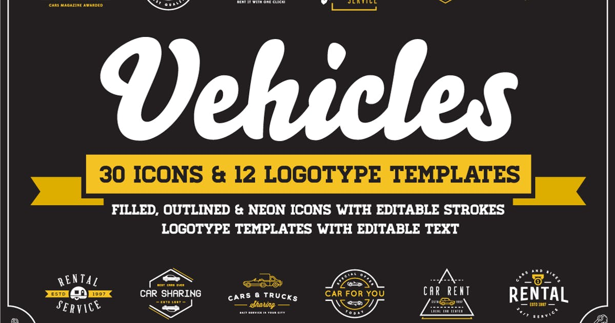 Download Awesome Vehicles Icons and Logo Set by CkyBe