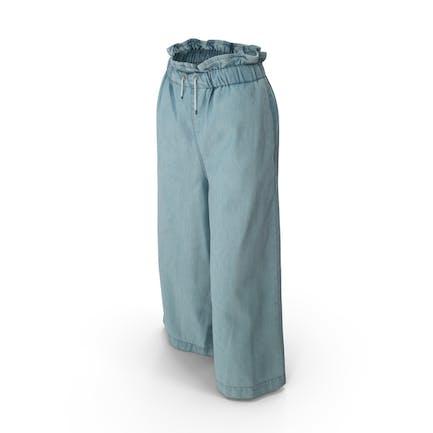 Damen Hose Hellblau