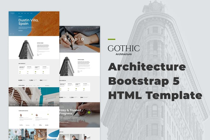 Thumbnail for Gothic - Architecture Bootstrap 5 HTML Template