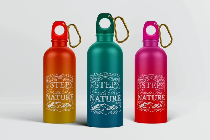 Thumbnail for Reusable Water Bottle MockUp