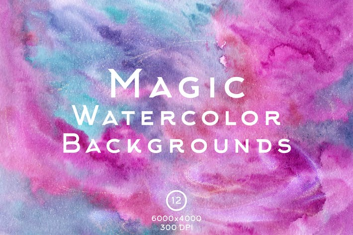 Thumbnail for Magic Watercolor Backgrounds