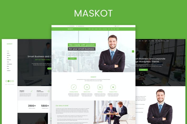 Thumbnail for Maskot – Smart Business PSD Template