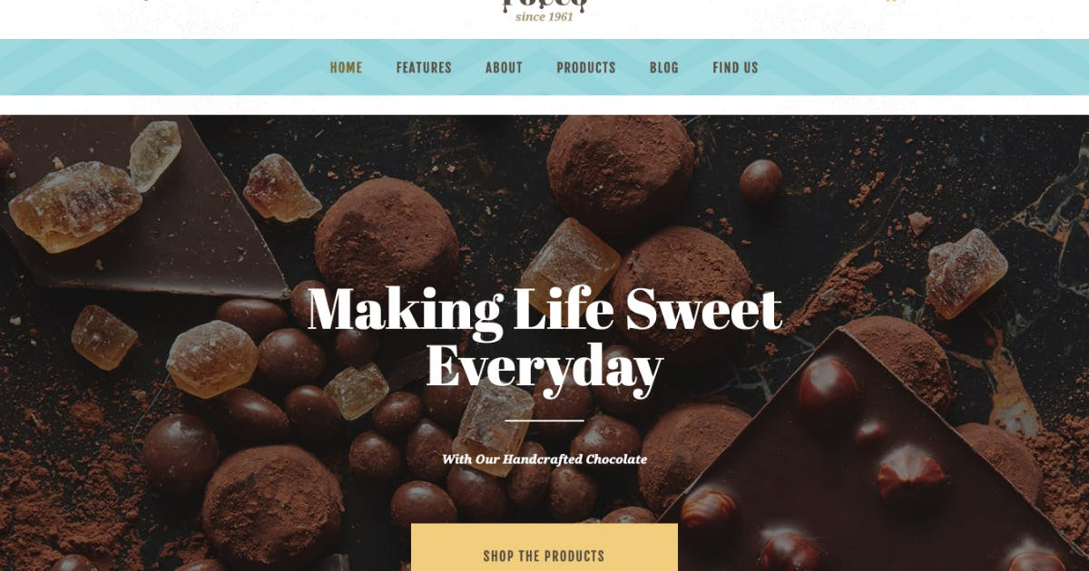 Download ChocoRocco   Chocolate Sweets & Candy Store WP by AncoraThemes