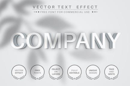 Piedra blanca - efecto de texto editable, estilo de fuente