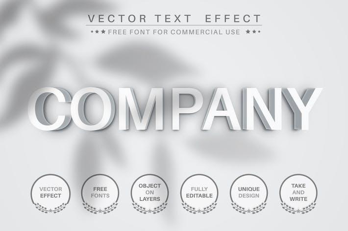 Белый камень - редактируемый текстовый эффект, стиль шрифта