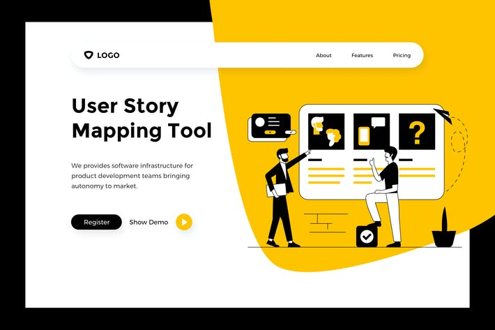 Thumbnail for User Story - Web Mobile Landing Page Banner