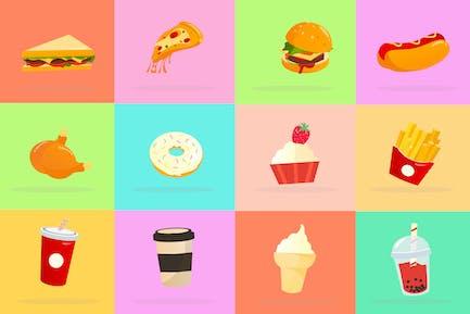 Beliebte Lebensmittel-Icon-Paket