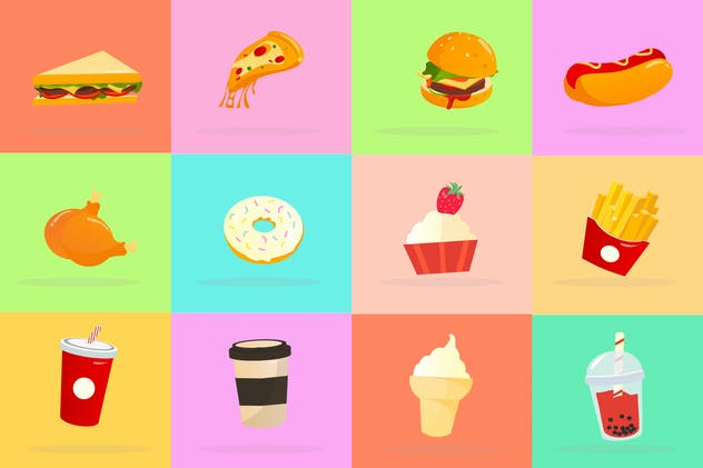 Popular Food Icon Pack