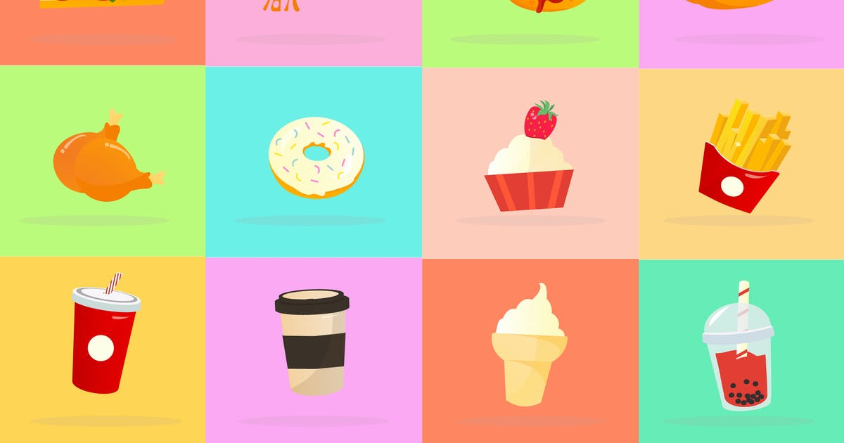 Download Popular Food Icon Pack by DimoGraphic