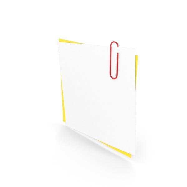 Белые и желтые бумаги с скрепкой