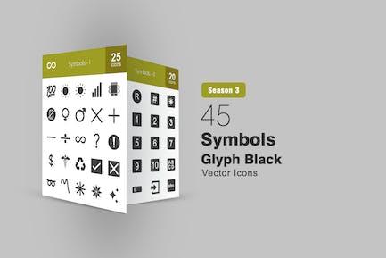 45 Symbols Glyph Icons