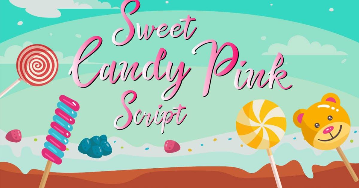 Download Sweet Candy Pink Beautiful Script by putra_khan