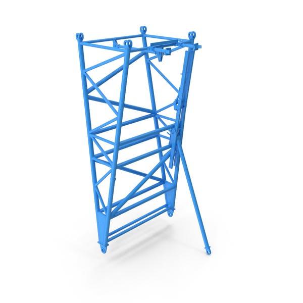 Кран F Промежуточный шарнирный Сечение Синий