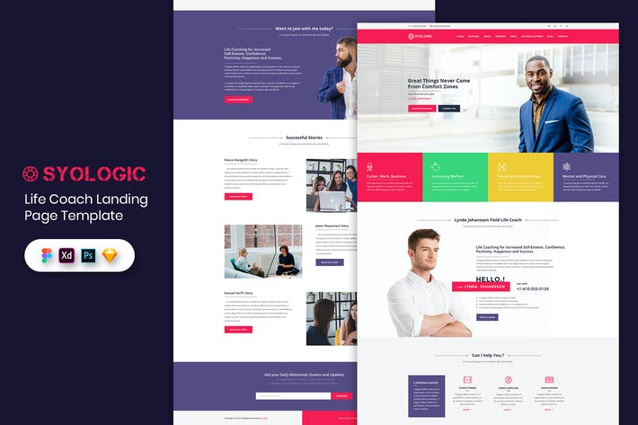 Thumbnail for Life Coach - Landing Page Template