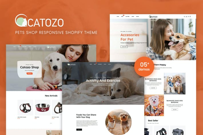 Thumbnail for Catozo - Pets Shop Responsive Shopify Theme