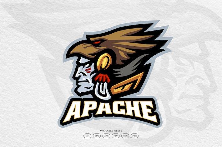 Apache Indian Native Mascot Logo Template