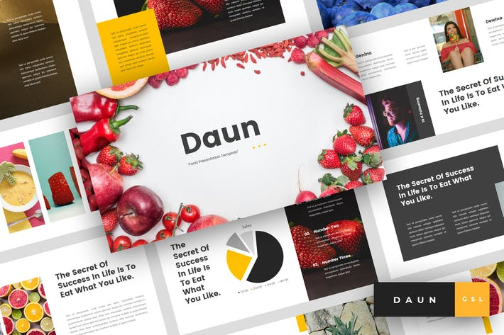 Thumbnail for Daun - Food Google Slides Template