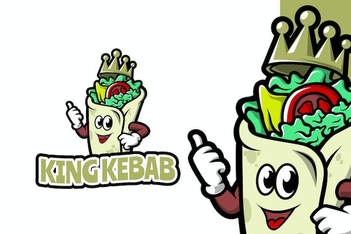 King Kebab - Food Mascot Logo Template