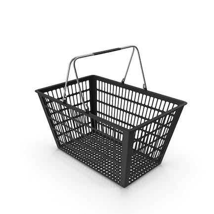 Schwarzer Einkaufskorb
