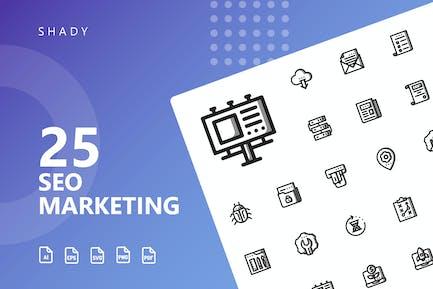 SEO Marketing Shady Icons