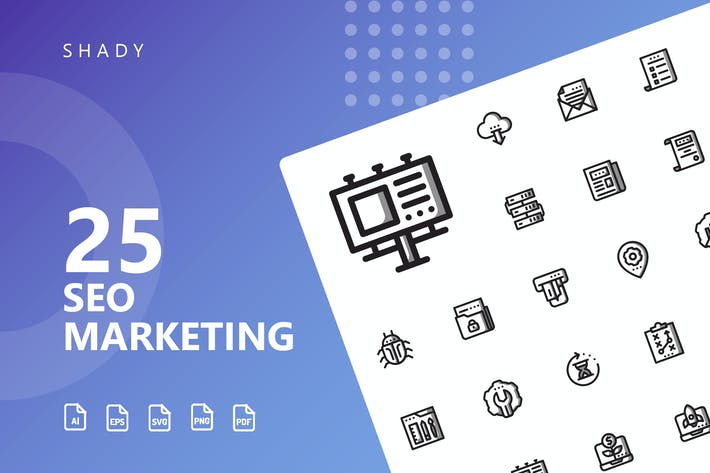 Thumbnail for SEO Marketing Shady Icons