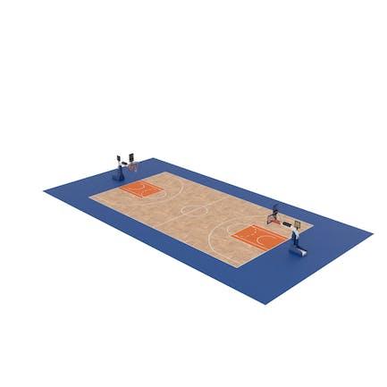 Basketball Court and Baskets