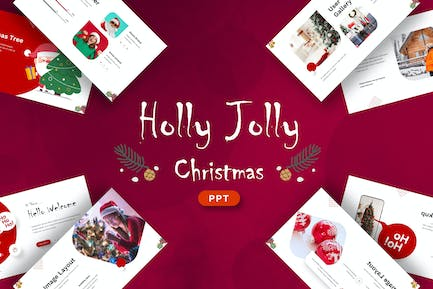 Holly Jolly Christmas - Powerpoint Template