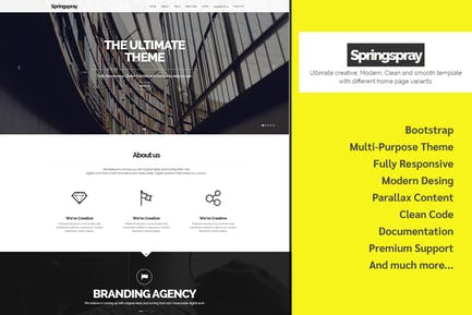 Springspray - Multipurpose HTML5 Template
