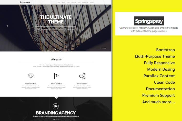 Thumbnail for Springspray - Multipurpose HTML5 Template