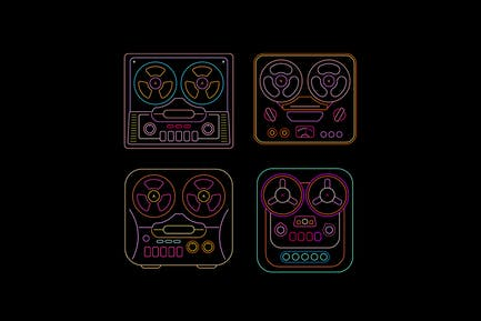 Retro Tape Recorders