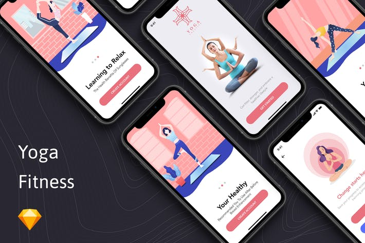 Thumbnail for Yoga Fitness App - Onboarding Concept