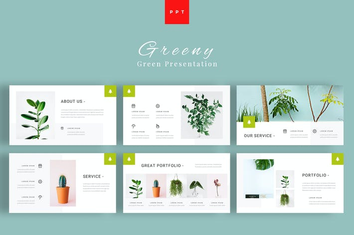 Thumbnail for Greeny - Green Powerpoint Presentation Template