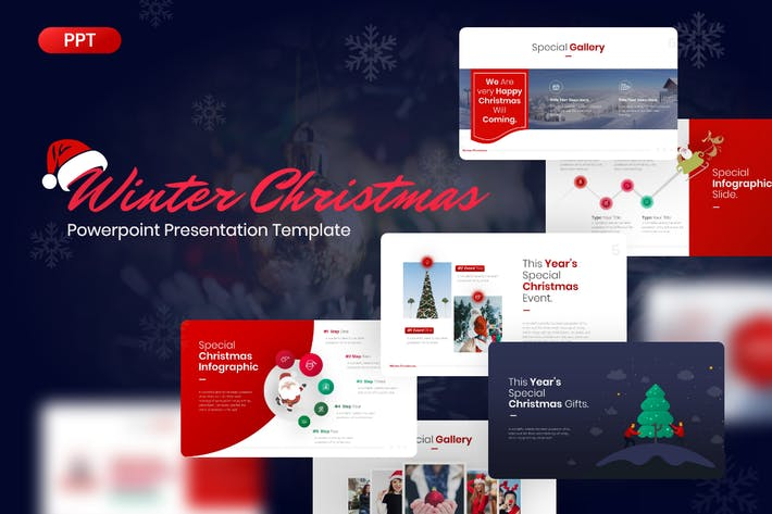 Thumbnail for Winter Christmas Powerpoint Template