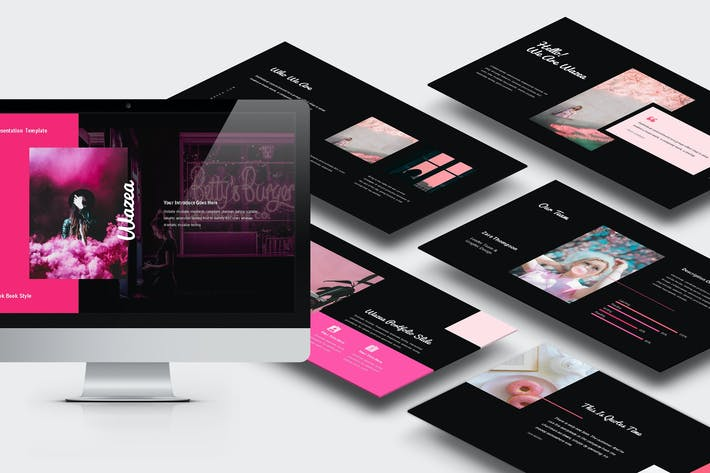 Thumbnail for Wazea : Pink Gradient Color Tone Powerpoint