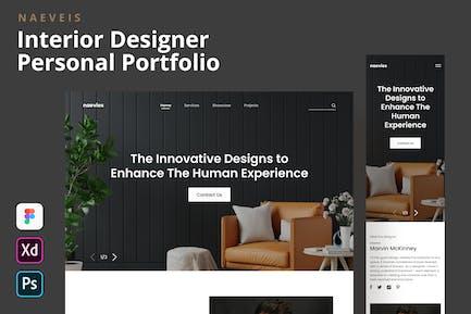 Naevies - Interior Designer Portfolio Landing Page